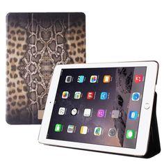 JUST CAVALLI Zeta Slim Leopard Python - Etui iPad Air 2 w/Magnet