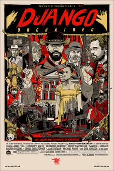 Tyler Stout Django Regular Mondo Movie Poster print art.  To purchase this piece, or to buy and sell any signed limited edition artwork, visit us @ Printdrop.com.