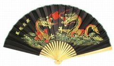 """Classic 20"""" Oriental Feng Shui Wall Fan-Black Dragon"" by Asian Home. $8.43. This classic oriental wall fan Handcrafted in bamboo and handpainted on heavy paper. ""Measures approximately: 20"""" in length when folded 20"""" x 35"""" when opened"". This classic oriental wall fan Handcrafted in bamboo and handpainted on heavy paper.Oriental fans has a history of two thousand years in ancient China. Artists express their artworks by drawing and writing on the oriental fans. Oriental fans a..."