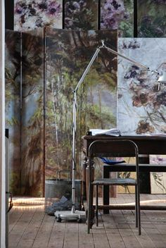 Claire Basler's studio Love this.