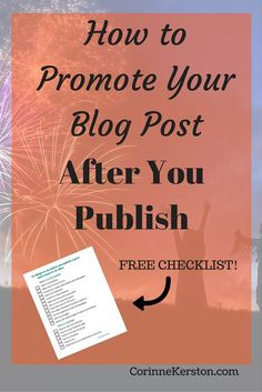 Are you wondering how to promote your blog post even after it's published? Check out these 6 expert ways to gain even more traffic today!
