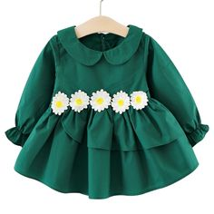 d0ff8bc2359 Flower Kids Girl Dress for Baby Toddler Children Long Sleeve Child Clothing  Girls Princess Floral Clothes