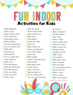 Fun & Easy Indoor Activities for Kids – Arthritis Nanny Activities, Babysitting Activities, Indoor Activities For Kids, Home Activities, Infant Activities, Summer Activities, Toddler Learning Activities, Toddler Fun, Exercise For Kids