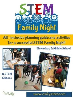This all-inclusive planning guide has everything you need to host a successful STEM Family Night! The guide was created after experience hosting several successful Family Nights with over 350 participants. The activities have been vetted by math and science teachers for both elementary and middle school participants and their families.