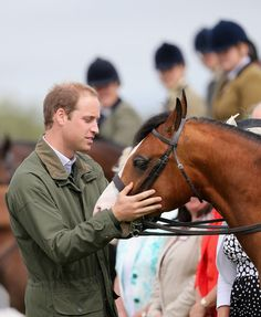 Prince William and a friendly chap.