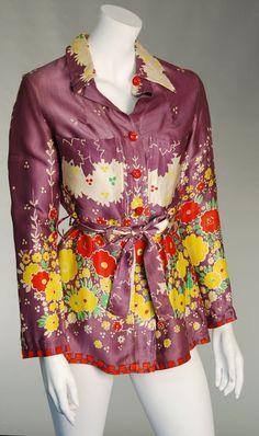 1970's Ossie Clark blouse