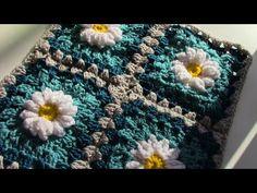 """CROCHET How To #Crochet #Sunflower Granny Square 10"""" TUTORIAL #326 - YouTube"""