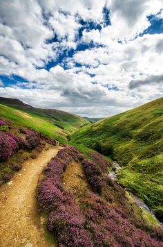 Derbyshire, England and the rolling hills of the Peak District National Park. Famous companies in Derbyshire include Rolls Royce and Toyota.