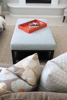 """""""I was thrilled when I found this tray at Z Gallerie...it works perfectly with the fabrics!"""" - Alison Royer of Belmon Design Group"""