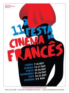 Ref. nº 1 do Michel. Pessoa estilizada. cores fortes. Gosto disso tb, só que mais de uma pessoa talvez. (nanda)  Lisbon - French Film Festival
