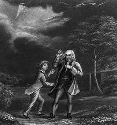 Benjamin Franklin proved that lightning is a form of static electricity. Description from easyscienceforkids.com. I searched for this on bing.com/images