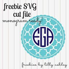 free svg file monogram ready!