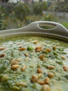 spring pesto soup. could be interesting.