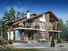 Жилой двухэтажный кирпичный дом площадью 266 м2 № U-266-1K