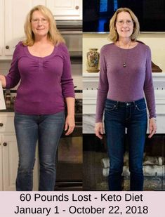 Before and after losing 60 pounds on the Keto diet. #ketosnacks #ketoweightloss #ketosnackideas #ketofoods #diabetesdesserts #cardiacdiet #dietplan #bestdiet #lowcarbsmoothies #ketosmoothies #weightloss #keto #beforeandafterweightloss #cleaneating #healthyeating #strongbody #weightlosspics #2020 #USA #myeasyketo #UK #keto28day #follow #healthychoises #mealplan #nocarbs #healthydiet Cardiac Diet, Weight Loss Pictures, Low Carb Smoothies, Weight Loss Success Stories, Diabetic Desserts, Diet Challenge, Strong Body, Keto Snacks, Weight Loss Plans