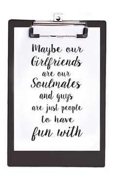 Black Quote Clipboard by Cotton Candies