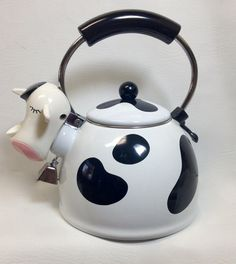 Vintage Whistling Cow Tea Kettle by MM Kamenstein by chriscre