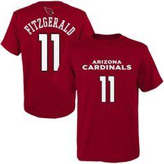 Larry Fitzgerald Arizona Cardinals Youth Mainliner Name & Number T-Shirt - Cardinal - $24.99