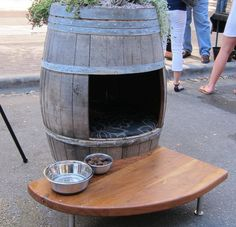 Creative Dog House Design Ideas_28--possibly get an old wine barrel from the Williamburg Winery?