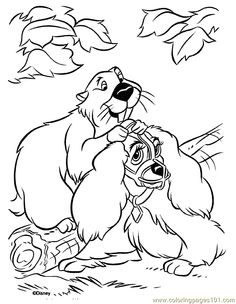 lady-and-the-tramp coloring page - print lady-and-the-tramp ... - Lady Tramp Coloring Pages