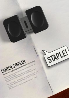 center stapler from Yanko Design