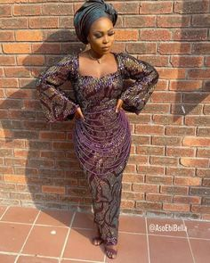 An is a wedding guest {bella} looking stunning in aso-ebi – the fabric/colors of the day, at a traditional engagement or wedding. How To - AsoEbi Bella. Aso Ebi Lace Styles, Latest Aso Ebi Styles, Lace Dress Styles, Lace Dresses, African Attire, African Fashion Dresses, African Wear, Fashion Outfits, Church Attire