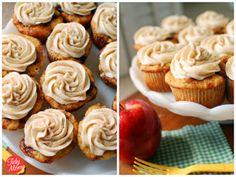 Apple Caramel Cupcakes with Cinnamon Buttercream {in a Jar}