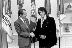 Las fotografías más famosas de la historia - Elvis Presley y Richard Nixon en la Casa Blanca