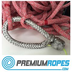 Dyneema softshackle attached to sheets with eyesplices #sailing #premiumropes…