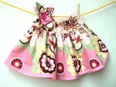 Flower Pink Bliss Twirl Skirt by JustkiddingBoutique on Etsy. $21.99, via Etsy.