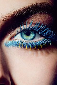 Chanel Mascara: Yellow, Mint & Blue Inimitable Mascaras 2013 (Vogue.com UK)