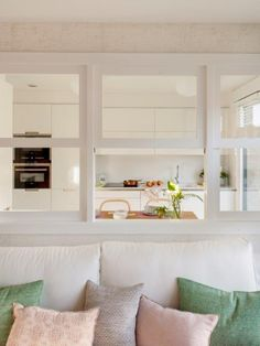 Ideas Wall Partition Design Interior Windows For 2019 Wall Partition Design, Wall Design, Sweet Home, Kitchen Dinning Room, Interior Windows, Cuisines Design, Small Space Living, Small Apartments, Home Kitchens