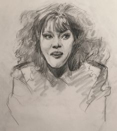 Kate McKinnon as Sheila Sovage, sketch by Heather Lenefsky Drawing Faces, Drawings, Kate Mckinnon, West Hollywood, Art Sketches, Illustration Art, Face Drawings, Sketches, Art Drawings