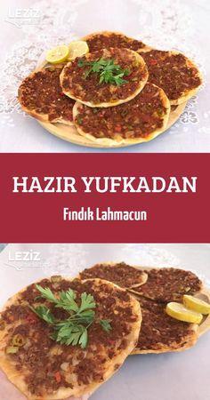 Hazır Yufkadan Fındık Lahmacun Turkish Pizza, Meat Sandwich, Crepes, Brunch Recipes, Food Hacks, Allrecipes, Feel Good, Pesto, Sandwiches