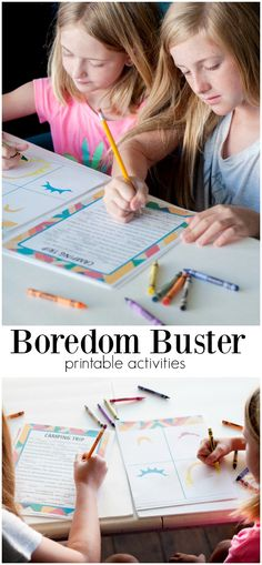 Summer Boredom Buster Printable Kits. Beat the heat and the boredom with these…