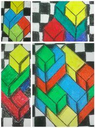 Op school zijn we nu bezig met het thema bouwen. Als tekenopdracht wilde ik de kinderen blokkenbouwsels laten natekenen in perspectief. Lees hieronder hoe ik dit heb aangepakt. Het enige wat je aan materiaal nodig hebt, zijn wasco krijtjes, geruit papier, blanco papier en lego blokjes.