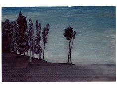 Frédéric Poincelet (Fr., né en 1967), Sans titre, 2015, stylo à bille et encres de couleur sur papier, 32,5 x 50 cm, Paris, galerie Catherine Putman