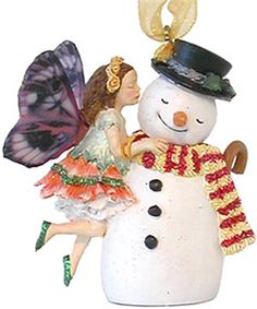 Country Artists Butterfly Fairies 'Christmas Delights' Tree Ornaments 05936
