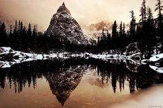 Jack Brauer. Lone Eagle Reflection    Indian Peaks, Colorado