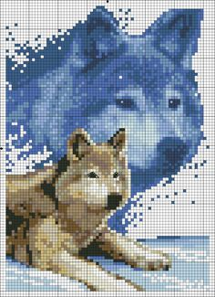 Cross stitch *<3* Point de croix Chiens  No color choices given but should be easy to figure out.