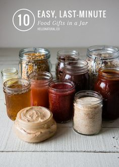10 Last Minute Food Gifts in a Jar | HelloGlow.co
