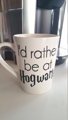I'd rather be at Hogwarts Harry Potter Mug by TraceysTrendyVinyl