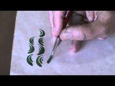 Brushstrokes Exercises 2 - Bauernmalerei, Decorative Painting Online Cla...
