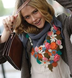 magnificent crochet necklace