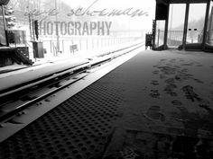 Outdoor Train Station in Toronto Winter