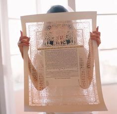 This Ketubah (the Jewish wedding contract) is beautiful..
