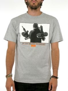 Get It T-Shirt for men by DGK 90% Cotton 10% Polyester Model is wearing a size Medium