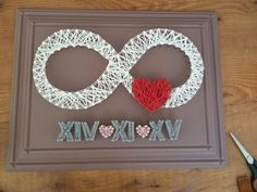 String Wall Art, Nail String Art, Valentine Crafts, Valentines, Diy Wood Signs, Nursery Wall Art, Little Gifts, Craft Gifts, Paper Flowers
