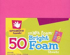 Check out Smart Foam 50 Bright Color Assortment Creative Handsby Fibre Craft Supplies on attictreasuresbyjudy