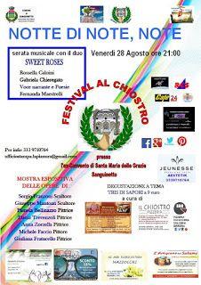 SANGUINETTO CHANNEL: FESTIVAL AL CHIOSTRO, 2 giorni di MUSICA E ARTE
